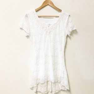 SHANNON FORD NY lace top long blouse SMALL